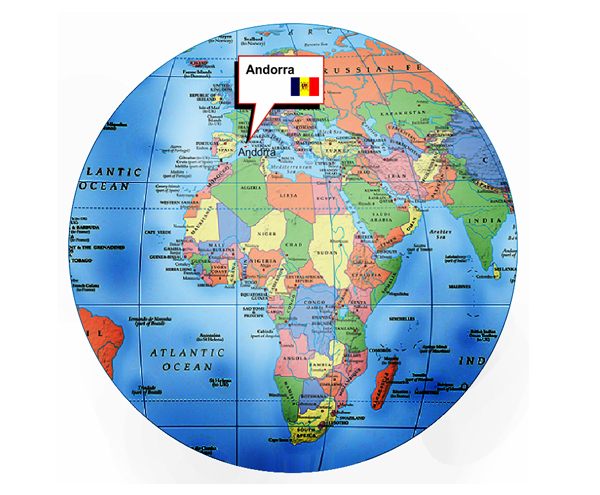 Where Is Andora On World Map - Where is andorra