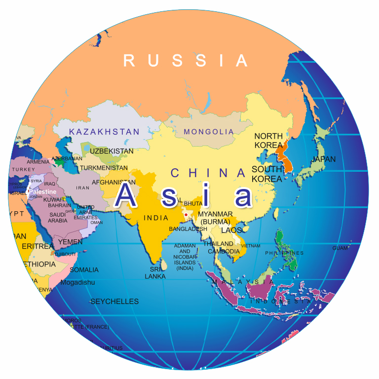 where is asia on the world map Militarybraliciousco