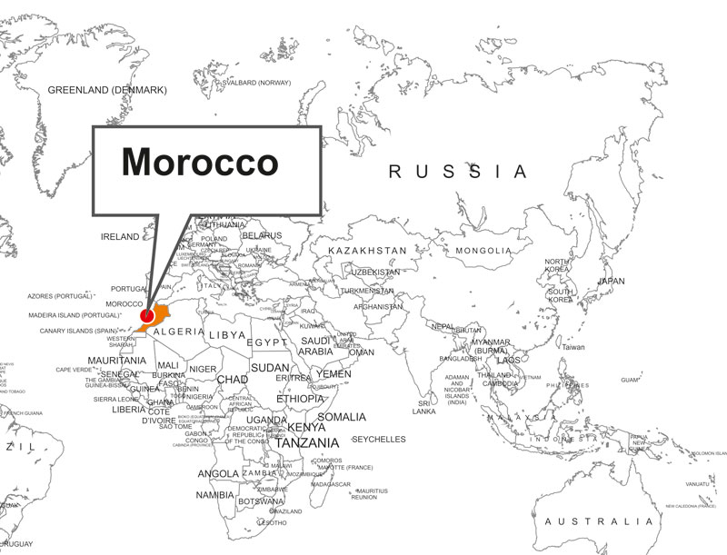 Morocco world map morocco location map sciox Gallery
