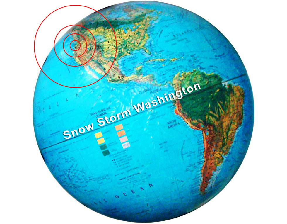 Snow storm location on the globe world map glob showing snow storm location of washington gumiabroncs Images
