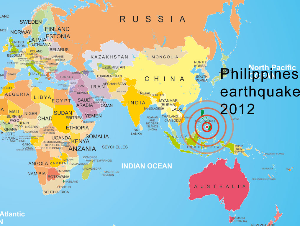 Philippines map  World map