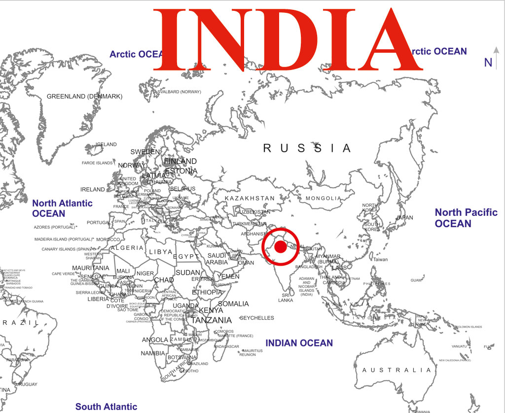 Location Map Earthquake India World Map - Mauritius location in world map