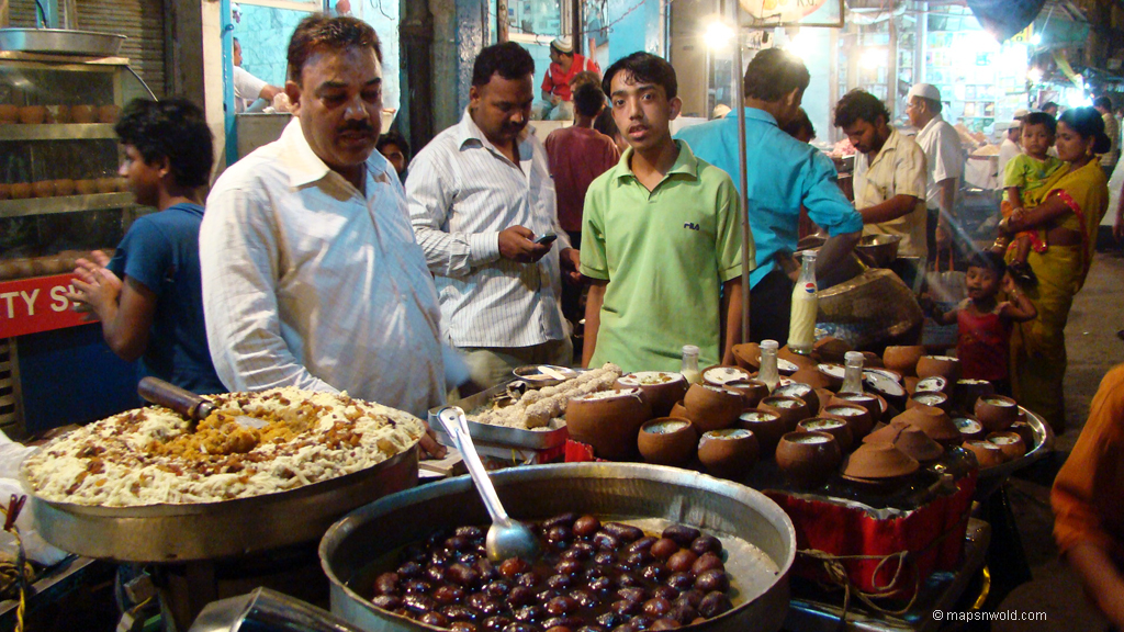 Indian traditional food market