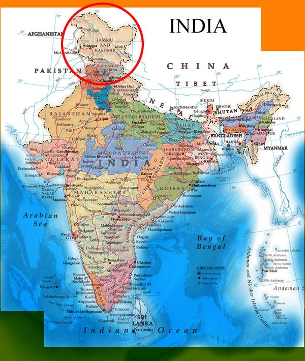 Google now shows Jammu & Kashmir and Arunachal Pradesh as ...  Jammu And Kashmir World Map
