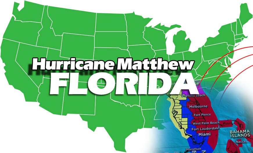 Hurricane mathew in Florida affected areas