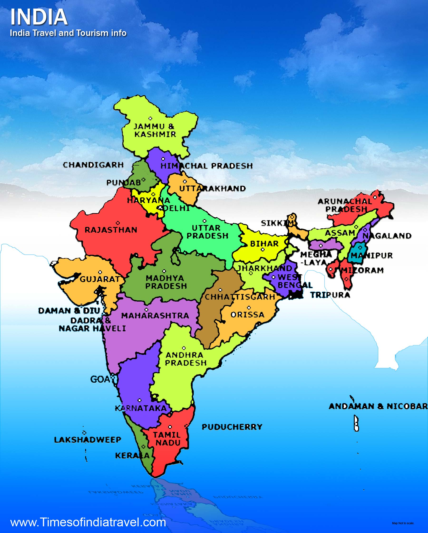 Maps of India Big Political maps of india