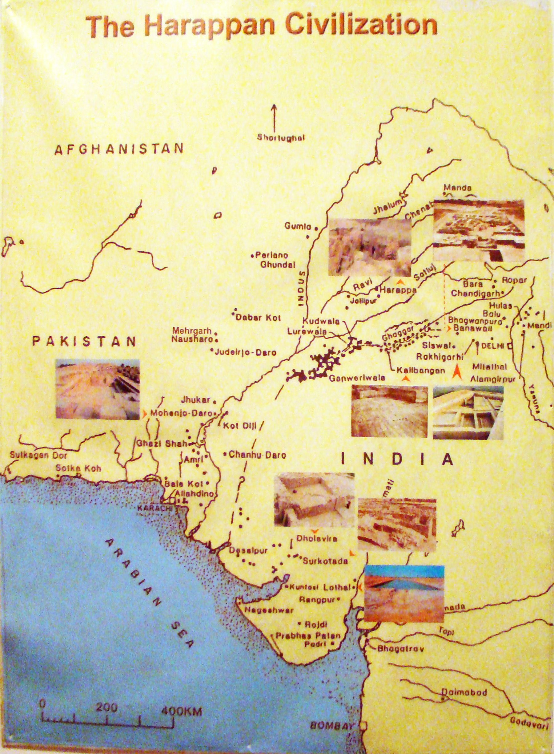 Harappan Civilisation Map