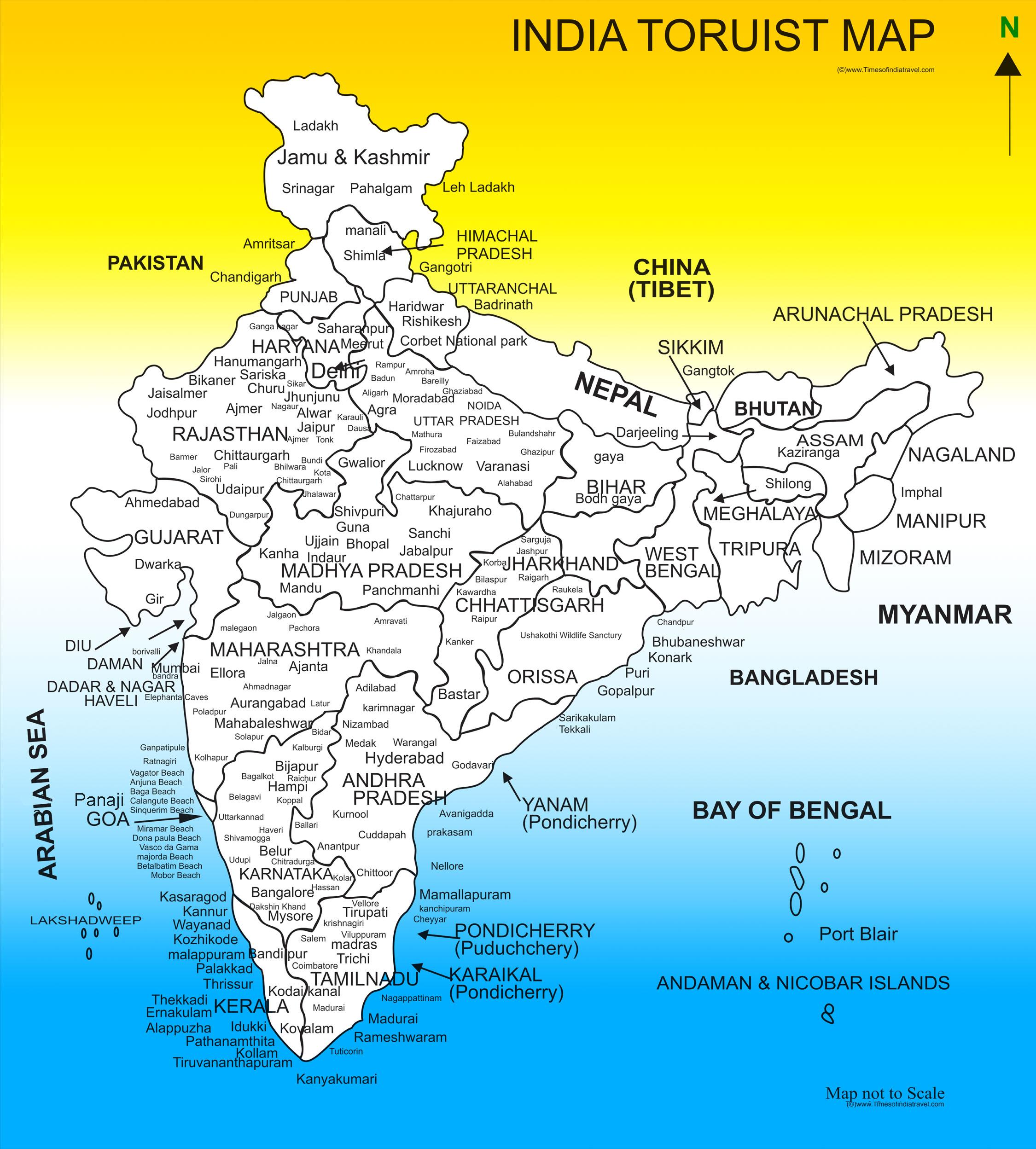 India Travel Map Com