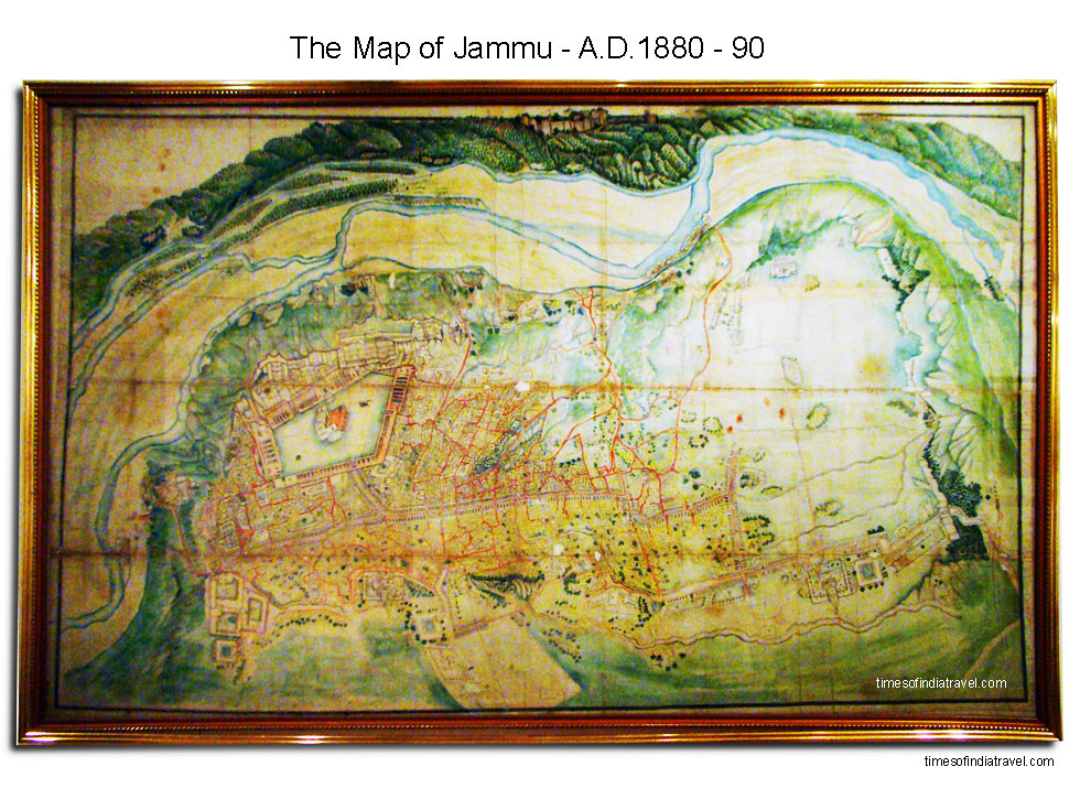 Old map of Kashmir