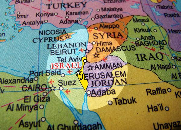 November World Map - Where is israel