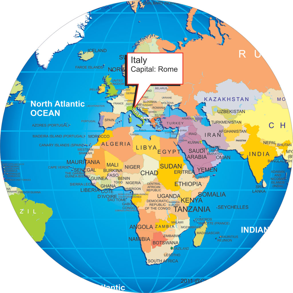 where is italy location map italy wold map