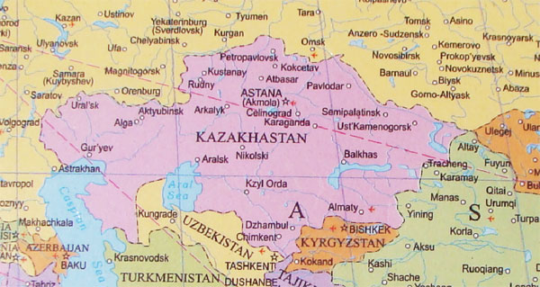 Kazakhstan Kazakhstan World Map on morocco world map, algeria world map, panama world map, mongolia world map, india world map, pakistan world map, ukraine world map, brazil world map, caucasus mountains world map, manchuria world map, korea world map, uzbekistan world map, thailand world map, kosovo world map, new guinea world map, burma world map, nepal world map, sierra leone world map, romania world map, poland world map,