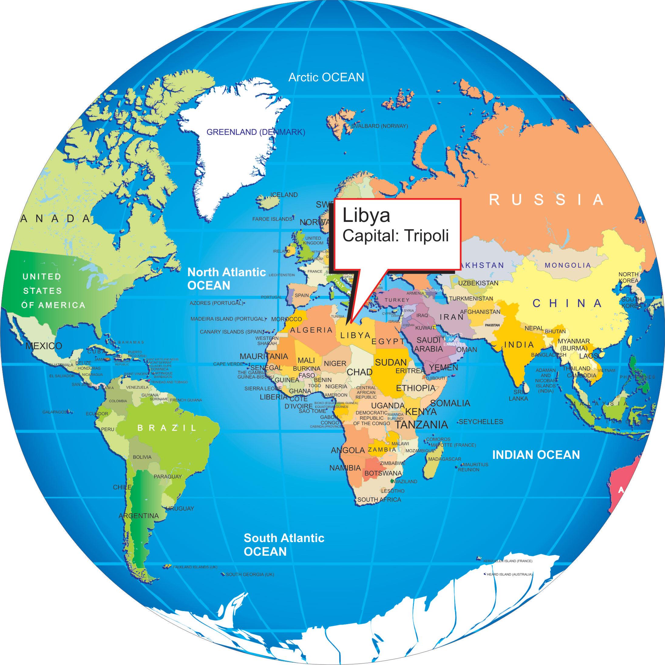 Where Is Libya World Globe - Where is libya