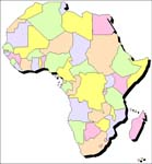 Africa outline map of all countries