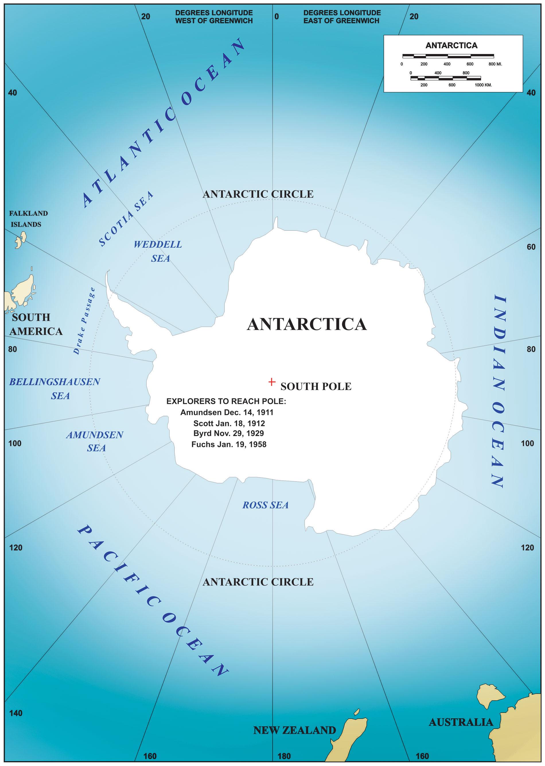 Arctic Ocean Political map