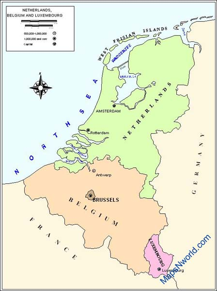 netherland outline map