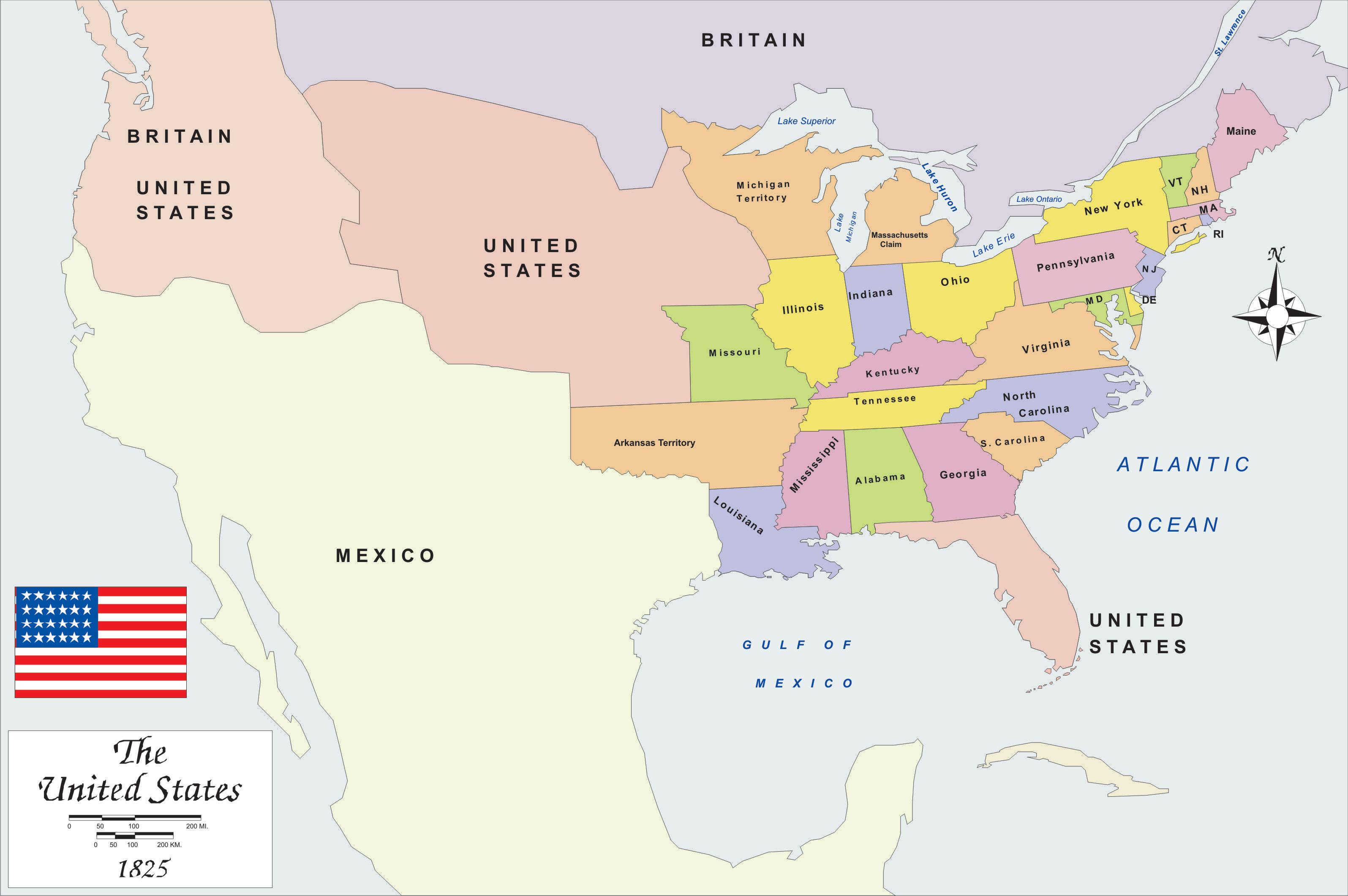 History Map USA Big Size - Us size map