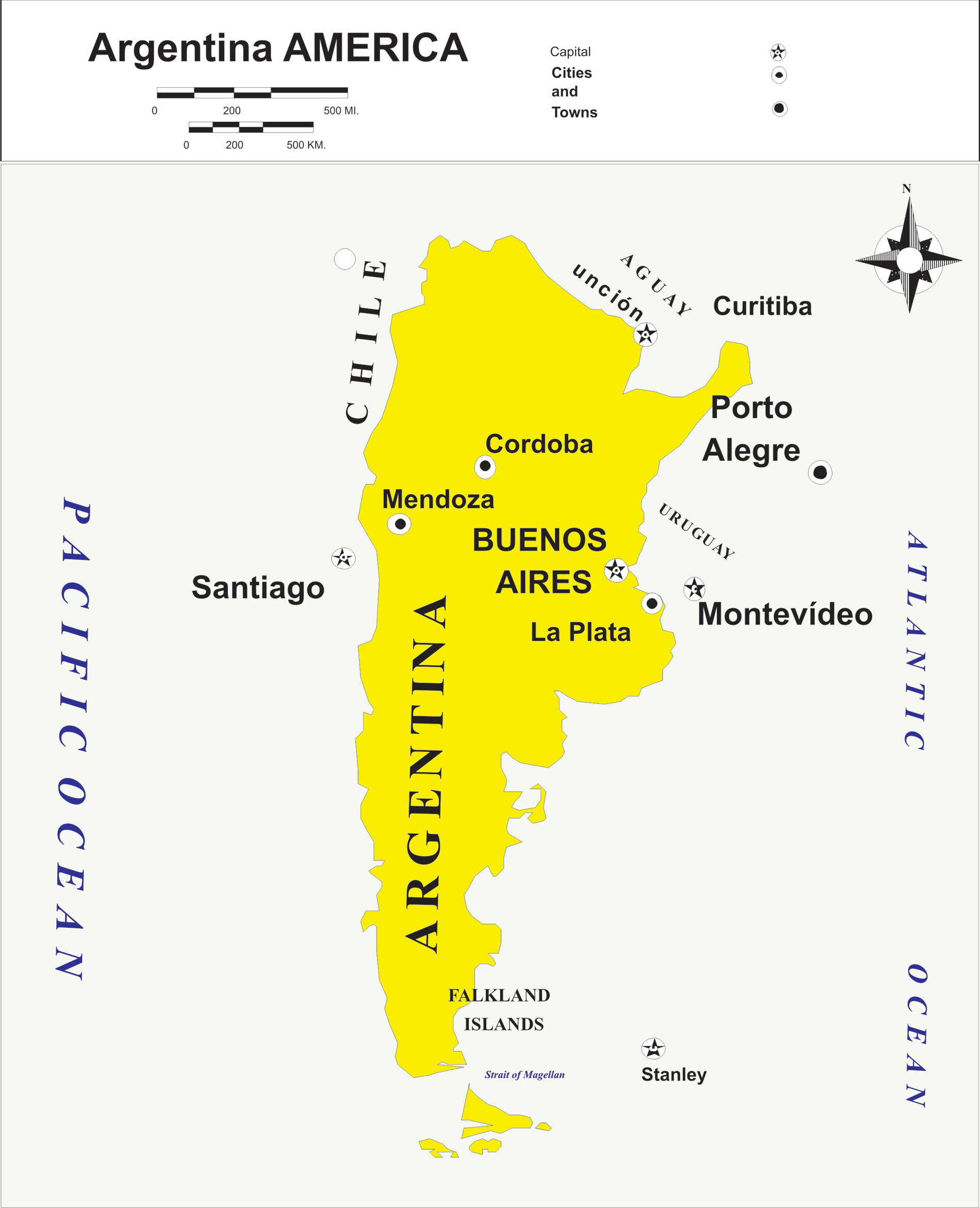 Argentina Political Map, map Argentina