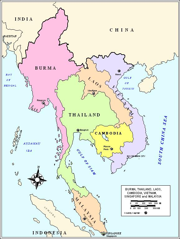 asia political map map asia
