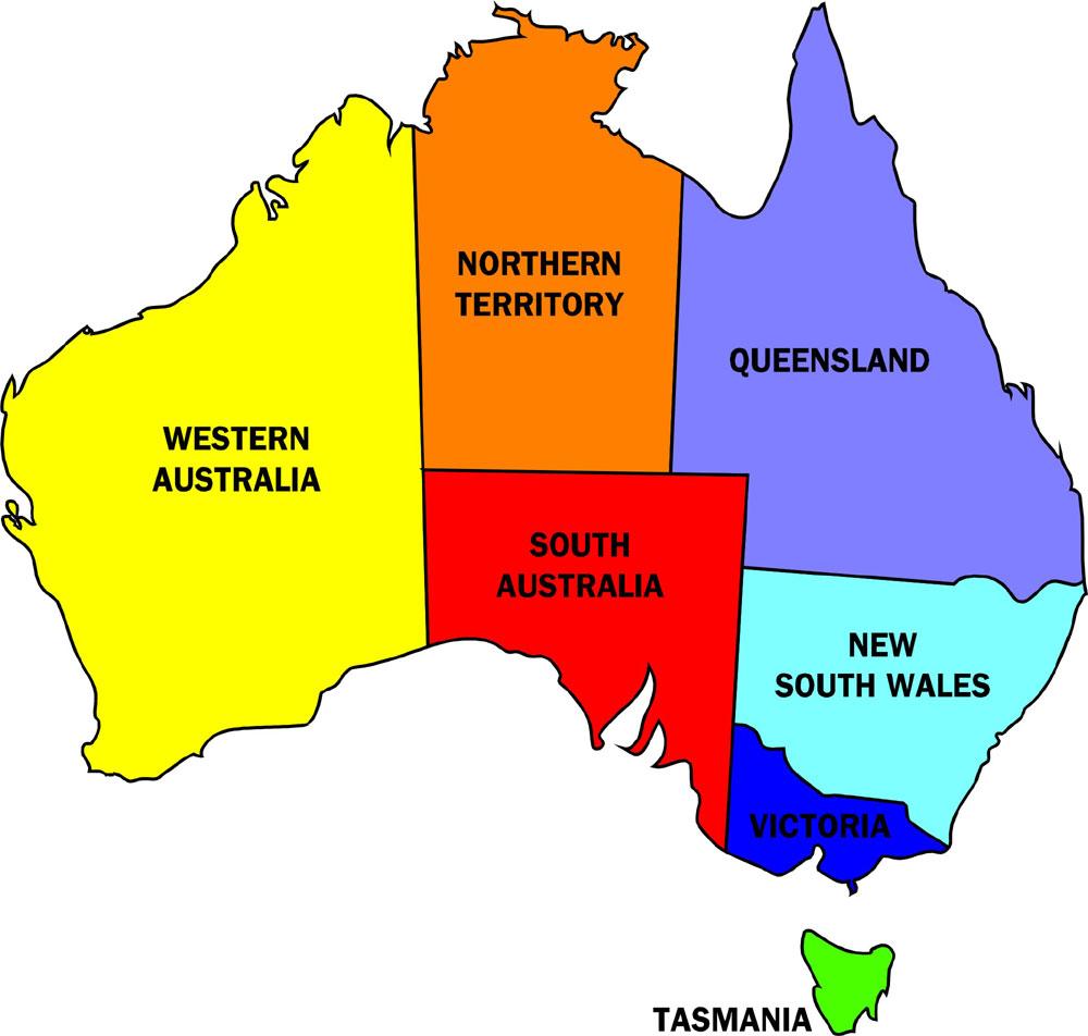 australia political map australia