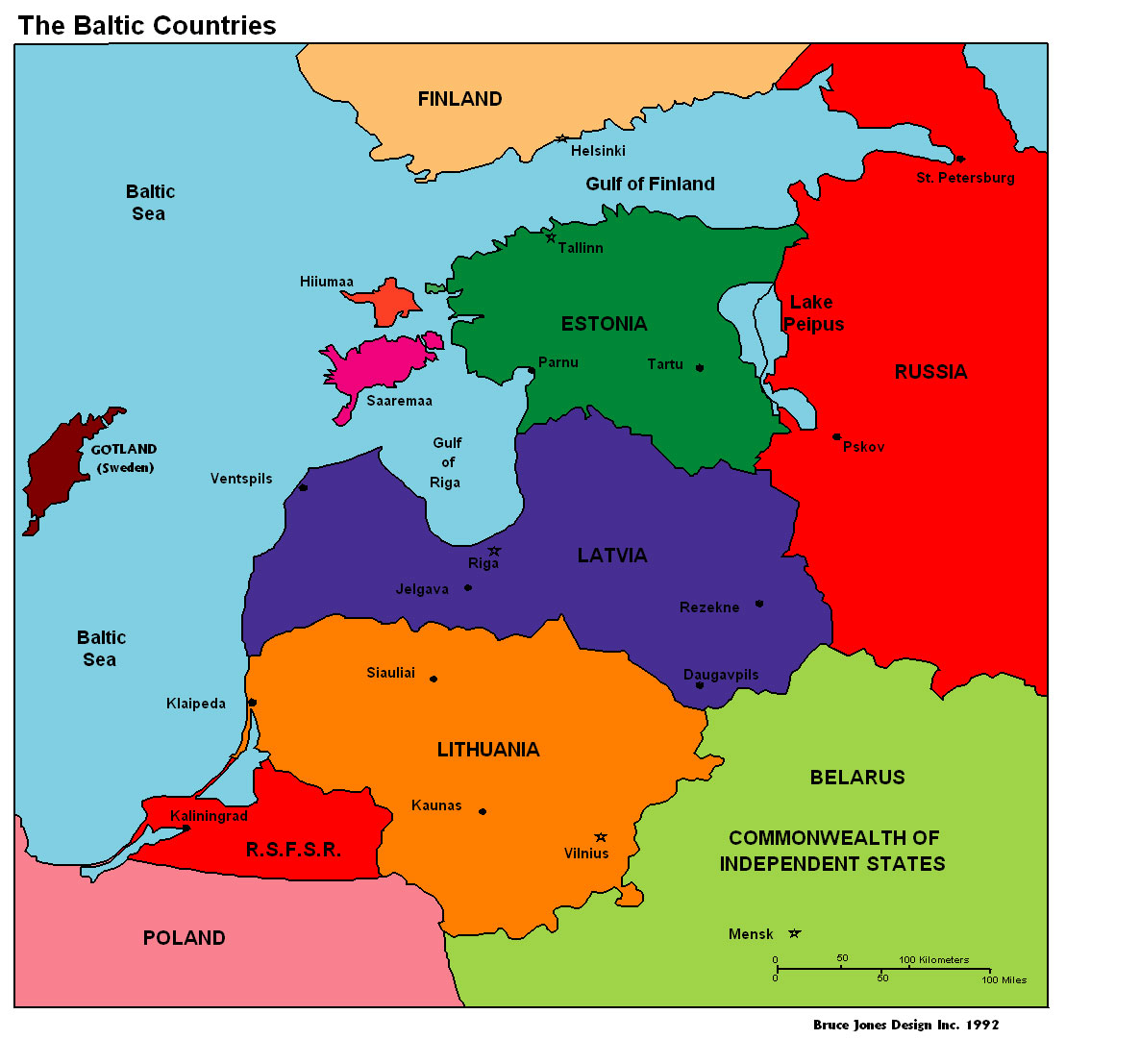 Baltic Countries Baltic Countries Political Map travel map