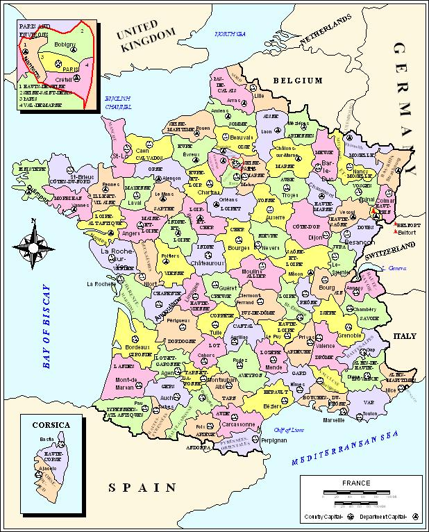 France political map france france political map germany gumiabroncs Gallery