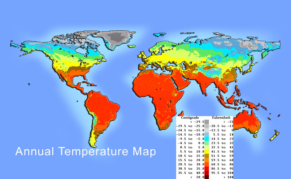 Temperature and pressure map