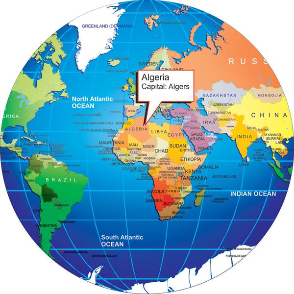 Algeria On World Map Where is Algeria? on world map
