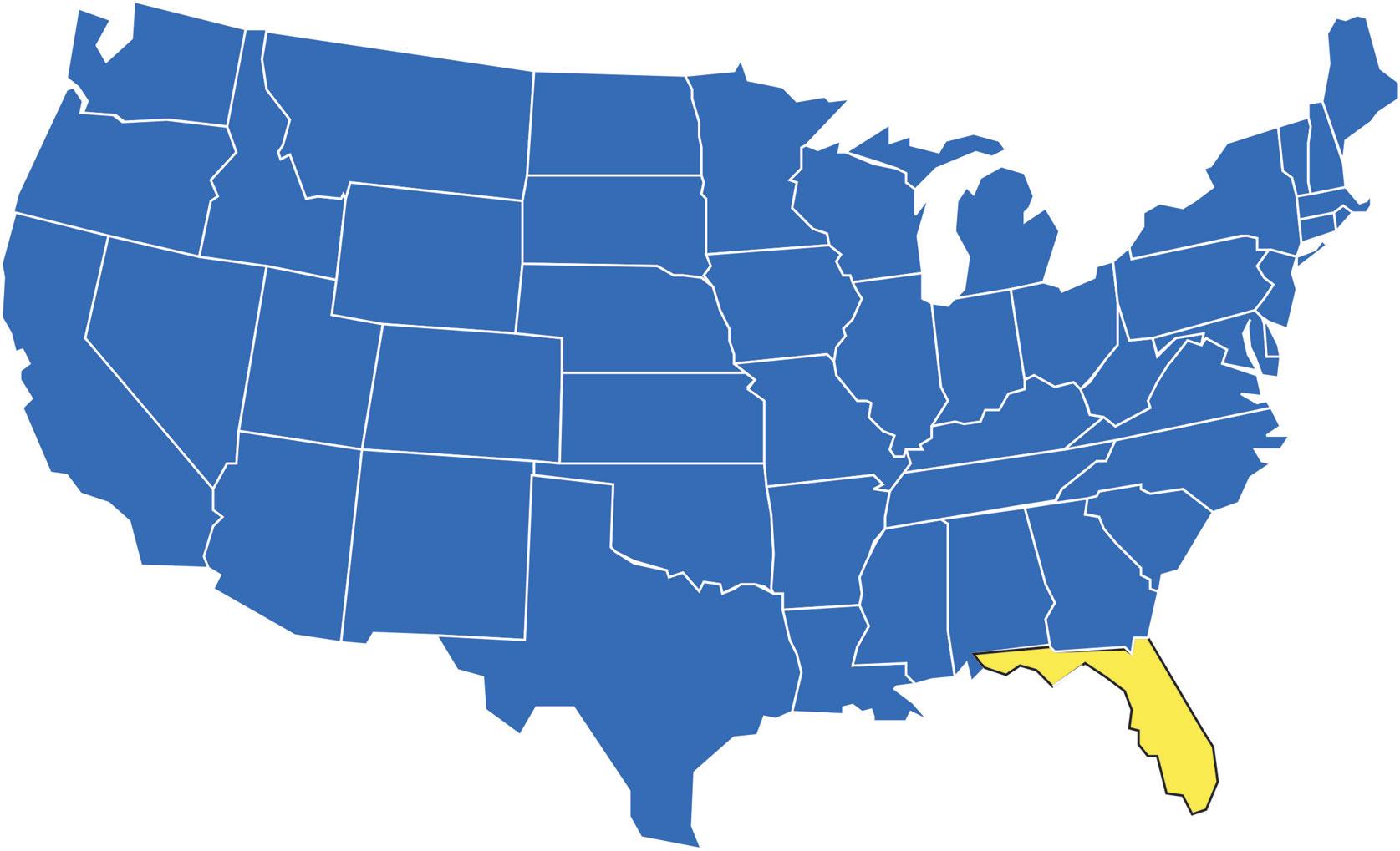 Florida Location Map.Florida Location Map
