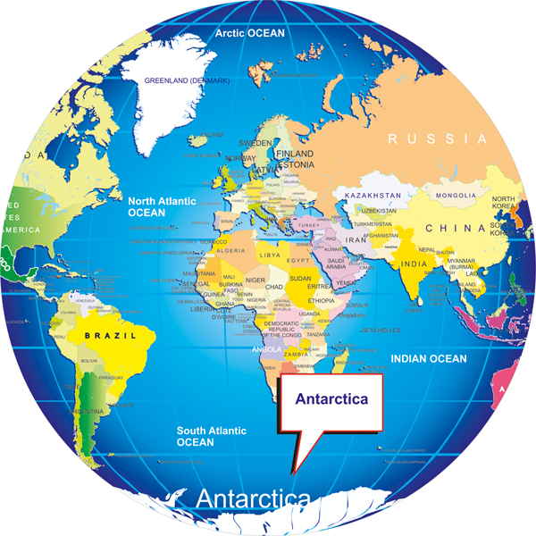 World Map Antarctica Where is Antarctica? on world map