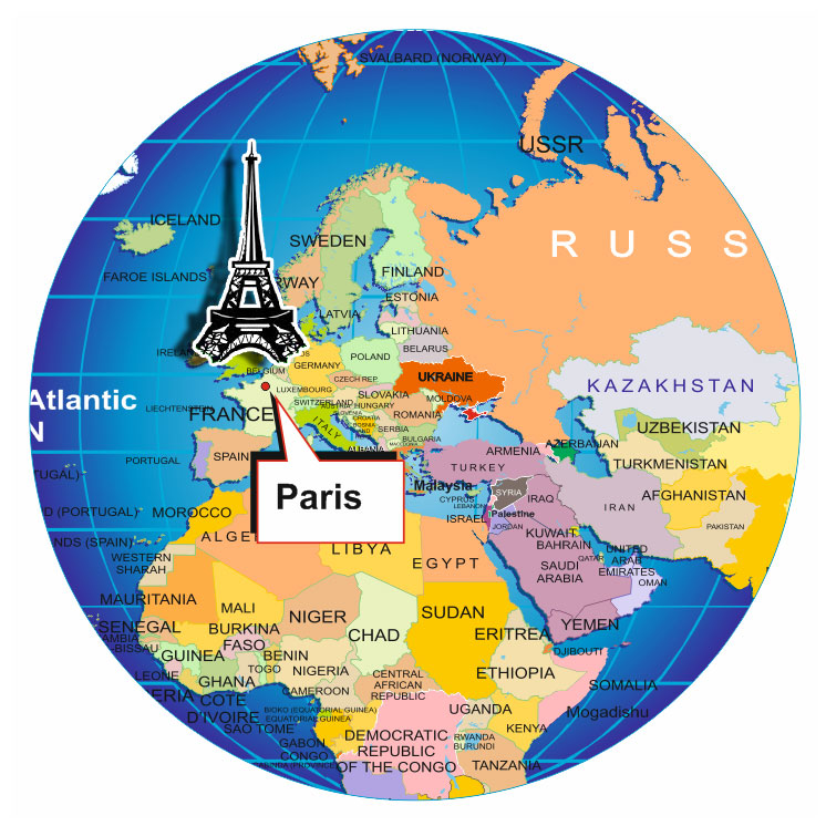 Paris globe