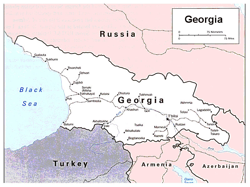 Georgia Map Of World.Georgia Map