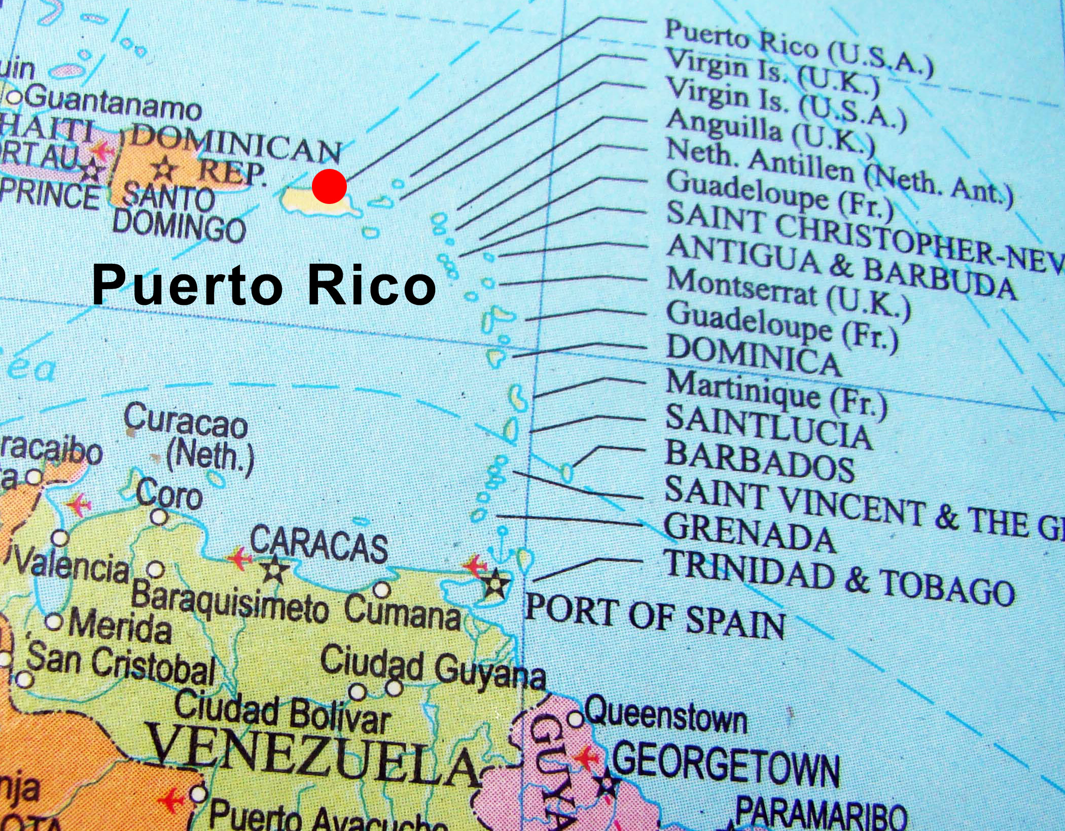 Picture of: Map Puerto Rico