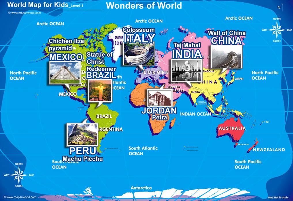 Seven Wonders Map for Kids