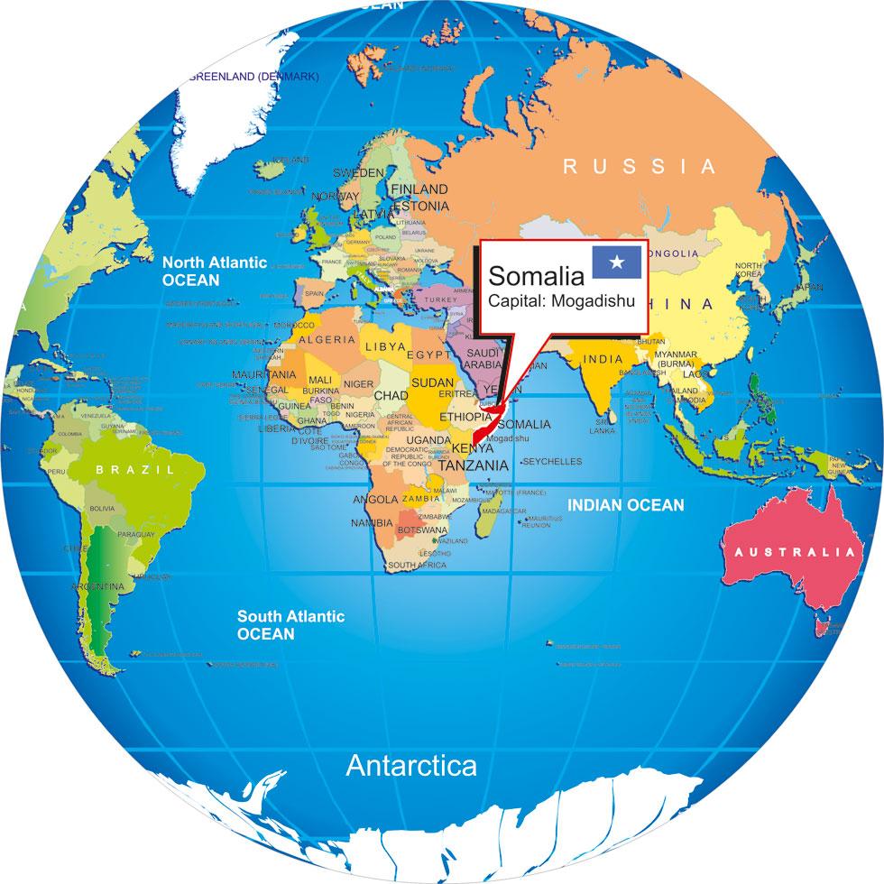 Somalia On World Map Where is Somalia? world globe Somalia On World Map